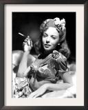 Ida Lupino, Portrait of Her Smoking Prints