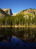 Hallet Peak Reflected in Dream Lake, Rocky Mountain National Park, Colorado, USA Photographic Print by Bernard Friel