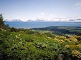 Kachemak Bay From Homer Looking To the Kenai Mountains Across Homer Spit, Alaska, USA Reproduction photographique par Bernard Friel