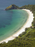 New Chums Beach and Motuto Point, Coromandel Peninsula, North Island, New Zealand Photographic Print by David Wall
