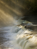 Sunbeams on Tahquamenon Falls, Upper Peninsula, Michigan, USA Photographic Print by Don Grall