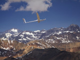 Glider Pilot Racing in Fai World Sailplane Grand Prix, Andes Mountains, Chile Photographic Print by David Wall