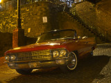 Antique Red Cadillac Parked in the Historic District, Savannah, Georgia, USA Photographie par Joanne Wells