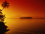 Sunset, Moorea, French Polynesia Photographic Print by Douglas Peebles