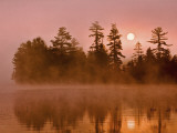 Sunrise on a Lake, Adirondack Park, New York, USA Photographic Print by Jay O'brien
