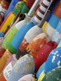 Colorful Buoys, Rockport, Cape Ann, Massachusetts, USA Photographic Print by Adam Jones