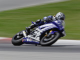Motorcycle in Motion, Ama Superbike Race, Mid Ohio Raceway, Ohio, USA Photographic Print by Adam Jones