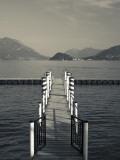 Lake Pier, Tremezzo, Como Province, Italy Photographic Print by Walter Bibikow