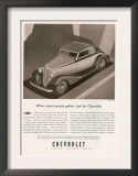 Chevrolet, Magazine Advertisement, USA, 1933 Poster