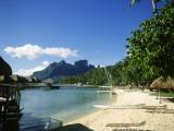 Bora Bora, Polynésie française Reproduction photographique par Douglas Peebles