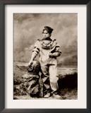 Sarah Bernhardt, in Sea-Diving Costume as the Ocean Empress. Ca, 1880 Posters
