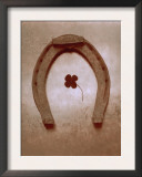 Lucky Horse Shoe on Dusty Rose Metallic I Art
