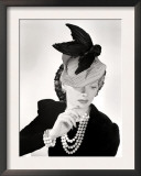 Lucille Ball Models a Unique Hat for a Publicity Still, 1940's Poster