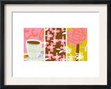 Tea Time Patterns Triptych Posters