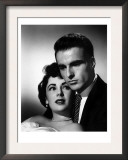 A Place in the Sun, Elizabeth Taylor, Montgomery Clift, 1951 Poster