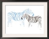Blue Zebra Print by  Avalisa