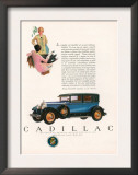 Cadillac, Magazine Advertisement, USA, 1927 Posters