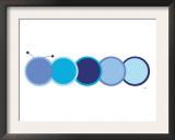 Blue Caterpillar Prints by  Avalisa