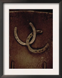 Lucky Horse Shoes on Rust Metallic Prints
