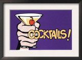 Cocktails! Pop Art with Martini in Hand Posters