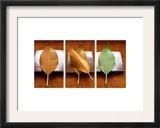 Leaves Arrangement Triptych Posters