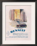 Renault, Magazine Advertisement, USA, 1930 Poster
