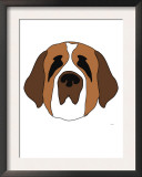 Saint Bernard Posters by  Avalisa
