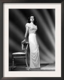 Joan Bennett, Portrait Wearing a Formal Gown Designed by Hattie Carnegie Posters
