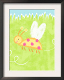 Buzzing Ladybug Poster