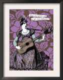 Victorian Woman Playing Guitar Art