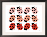 Red Ladybug Family Prints by  Avalisa