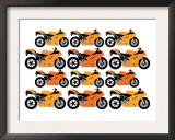 Orange Ducati Prints by  Avalisa