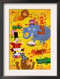 Crazy Circus Characters Print