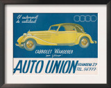 Auto Union Audi, Magazine Advertisement, USA, 1930 Poster