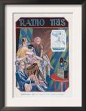 Radio Iris, Magazine Advertisement, France, 1924 Prints