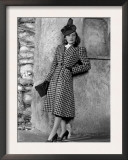 Priscilla Lane Modeling Houndstooth Coat, 1939 Prints