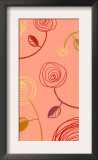 Color Swirl Drawing of Flowers Posters