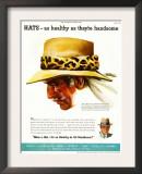 Hats, Magazine Advertisement, USA, 1952 Art