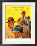 Dunlap, Magazine Advertisement, USA, 1950 Posters