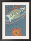 Electric Guitar in Space Print