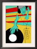 DJ Spinning Poster