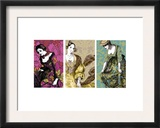 Patterned Dresses Triptych Prints