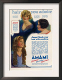 Amami Shampoos, Magazine Advertisement, UK, 1920 Art