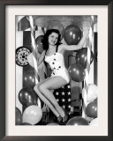 Debra Paget, Age 16, Strikes a Patriotic Pose, 1949 Poster