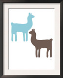 Blue Llama Couple Prints by  Avalisa