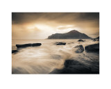 Sepia Sea, Lofoten Islands Poster by Andreas Stridsberg