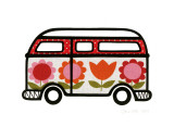 Flower Power Camper Prints by Jane Foster