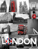 London (Collage) Posters