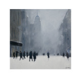 White Out, 5th Avenue Posters af Jon Barker