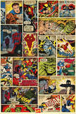 Marvel Comics (Comic Panels) Print